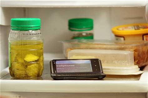 cell phone in fridge: mikeinnj: galleries: digital