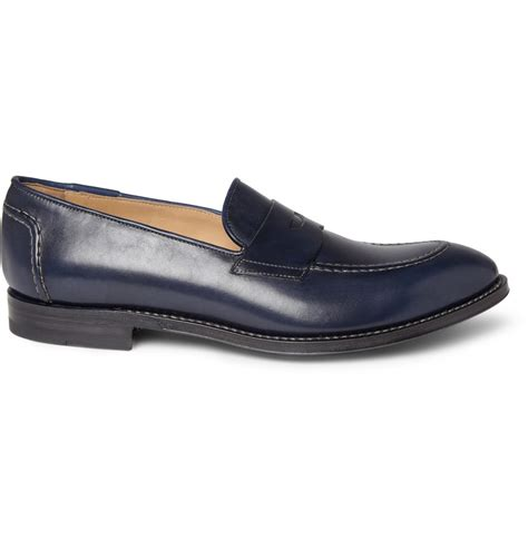 paul smith loafers paul smith leather loafers in blue for lyst