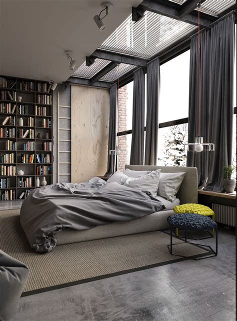 pinterest industrial bedroom in cities where housing space is at a premium the