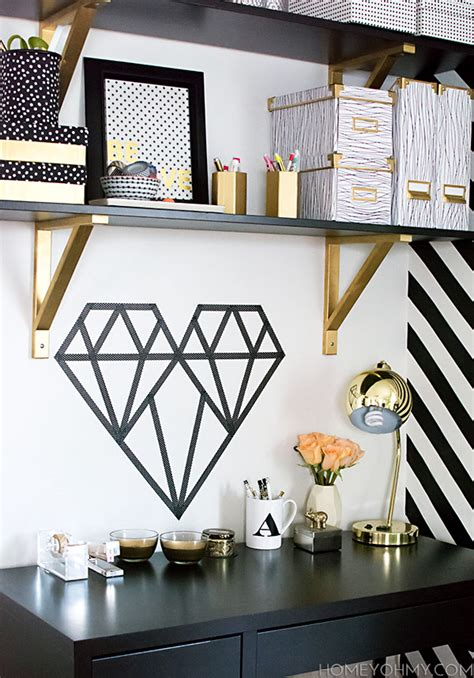 Diy Wall Decor Ideas For Bedroom 20 diy washi tape wall art ideas