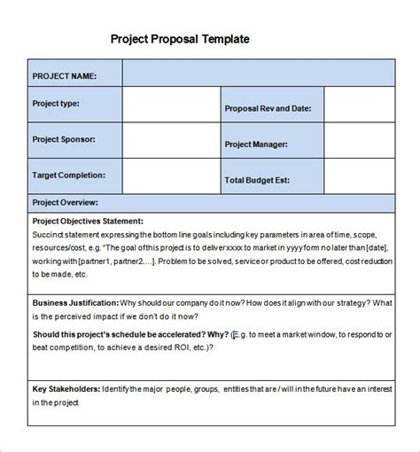 simple rfp template word 20 free project template ms word pdf docx