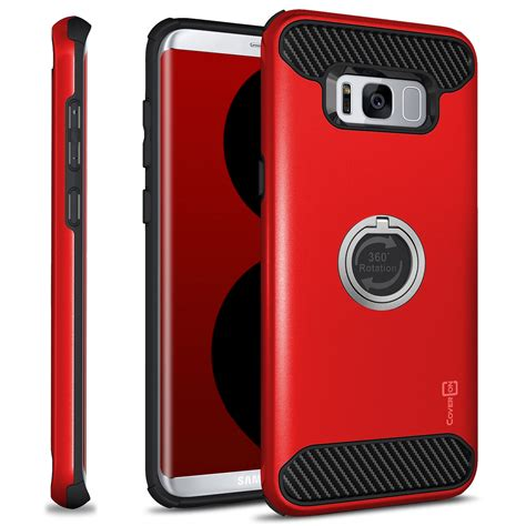 Gea Samsung S8 Soft Touch Hardcase for samsung galaxy s8 hybrid armor protective ring phone