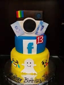 instagram kuchen social media cake snapchat instagram custom