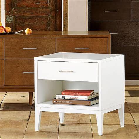 narrow white end table narrow leg end table white elm