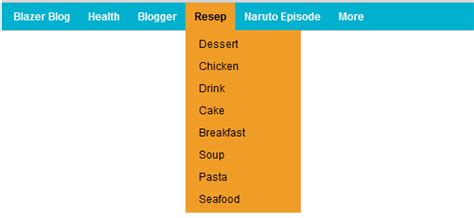 membuat menu dropdown horizontal cara membuat menu horizontal drop down animasi untuk blog