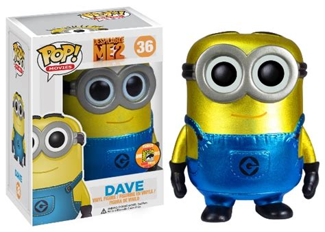Funko Pop Dave Metalic Sdcc Minion Despicable funko 2013 sdcc exclusives revealed updated july 17 figure fury