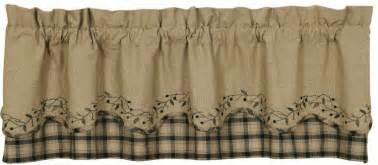 primitive curtains for kitchen blackberry vine primitive curtain valance black country