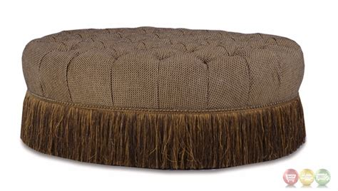 tufted ottoman with fringe giovanna button tufted cocktail ottoman with fringe