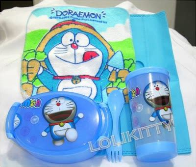 Set Alat Makan Stainless Hello Pooh Doraemon loli fancy gift shop may 2013