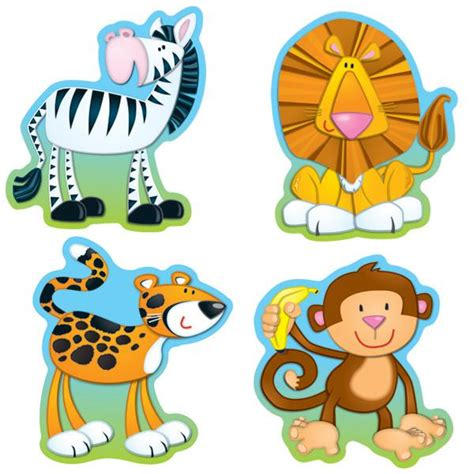 free printable zoo animal cutouts jungle animals accents cd 120072