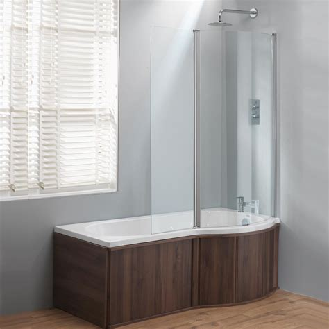 shower bath panels genesis california p shaped shower bath screen wooden panels standard superspec
