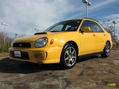 yellow subaru wagon 2003 sonic yellow subaru impreza wrx wagon 1280181 photo