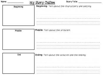 Story Writing Outline For B M E By Lindsay Griffith Tpt Writing A Story Template