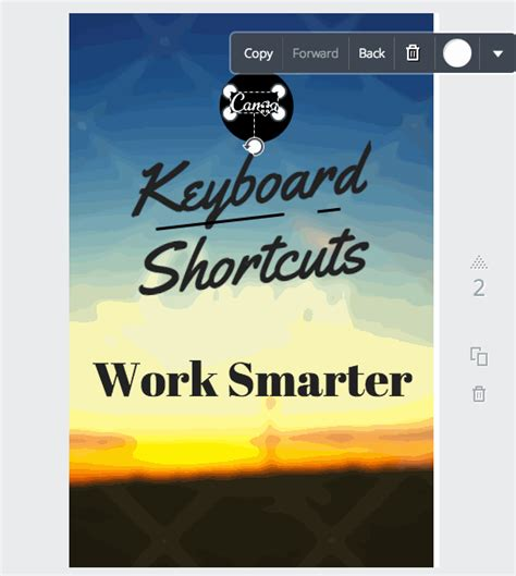 Canva Layers | 10 canva keyboard shortcuts to create images faster