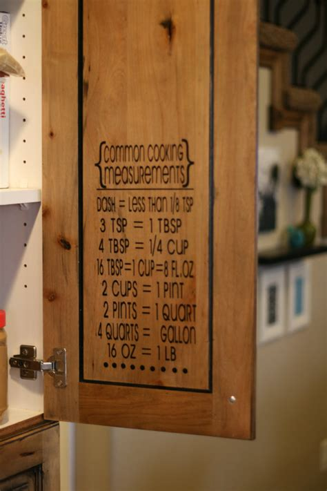 Cooking Measurements Wall Decal Cooking Measurementsconversion Table Measurement