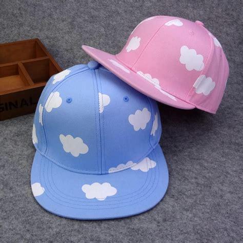 Exclusive Snapback Brim Pattern exclusive sale lovely picking baseball cap pink blue cloud patterns hip hop snapback hat