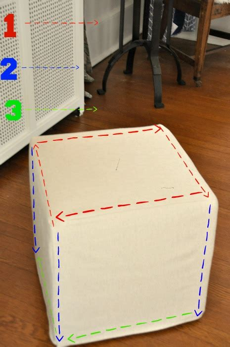 how to slipcover an ottoman the best 28 images of how to make an ottoman slipcover