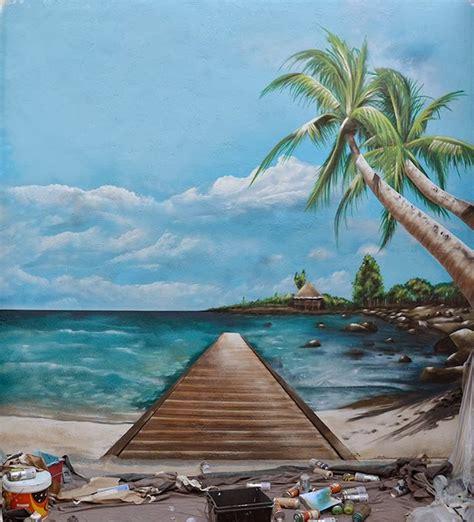 murales decorativos de playas