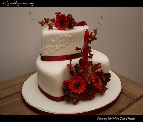Ruby Wedding Cakes by Ruby Wedding Anniversary Cake Autumnal A Photo On