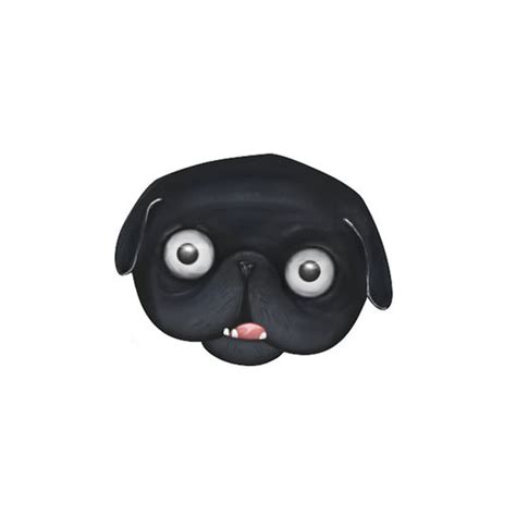 pug emoji black pug emoji stickers by from ideas to solution s r o
