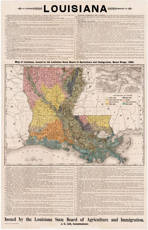 louisiana agriculture map thematic map promoting louisiana agriculture