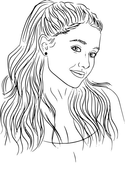 Coloriage Ariana Grande 224 Imprimer Sur Coloriages Info Easy Coloring Pages For Girls L