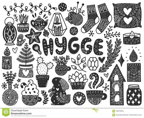 doodle elements 190 scandinavian doodles elements stock vector illustration