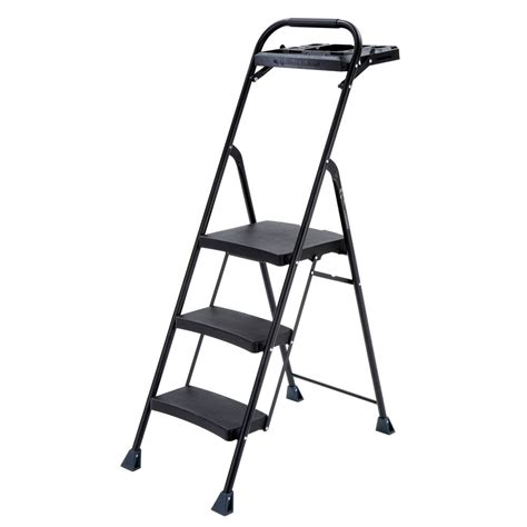 Gorilla Ladders 2 Step Compact Steel Step Stool by Gorilla Ladders 3 Step Aluminum Step Stool Ladder With 225
