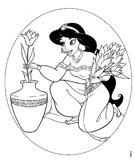 jasmine coloring pages printable jasmine coloring page