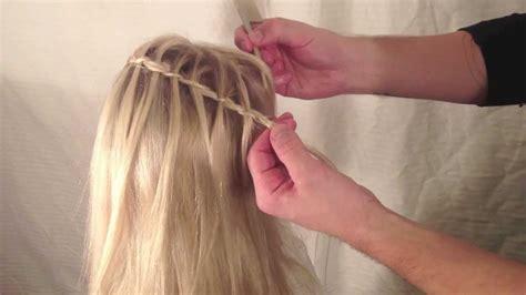 youtube tutorial waterfall braid waterfall braid tutorial jesse minty youtube