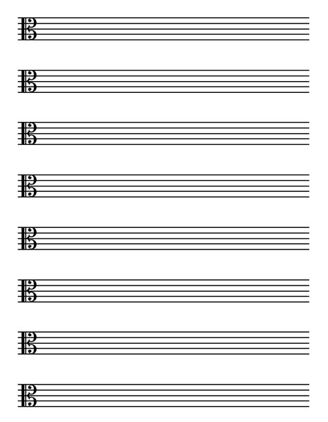 printable blank sheet music alto clef free printable music history and theory worksheets free