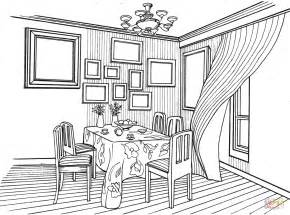 home design coloring book dining room in provence style coloring page free