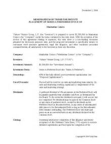 Contract Term Sheet Template by Term Sheet Exle Hashdoc