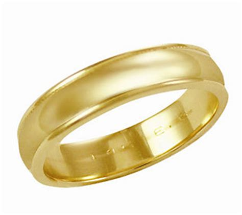 eternagold 5mm yellow gold silk fit wedding band ring 14k
