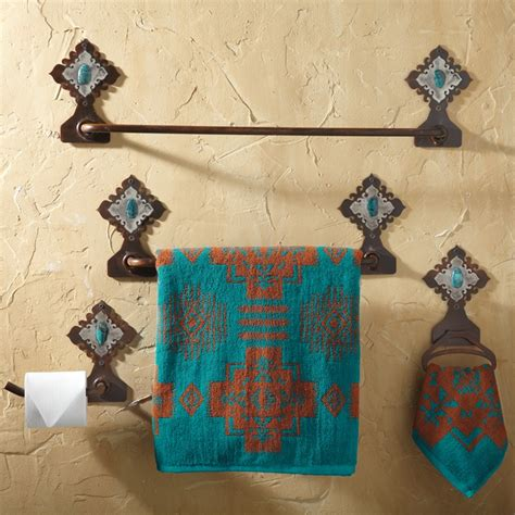 southwestern bathroom decor lodge decor rustic cabin decor southwestern home decor log