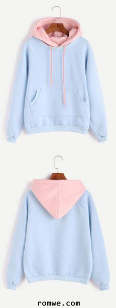 light blue chion hoodie hooded pink ombre loose sweatshirt 13 liked on polyvore