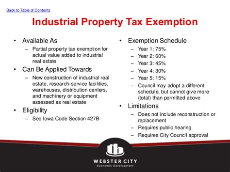 tax exemption under different sections 2013 economic development incentives