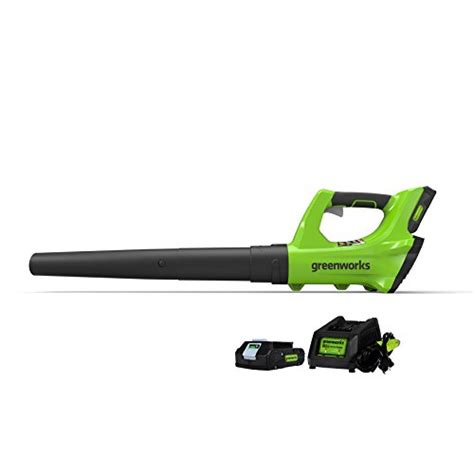 best cordless blowers for your backyard greenworks 2400702 24v cordless leaf blower 2ah battery