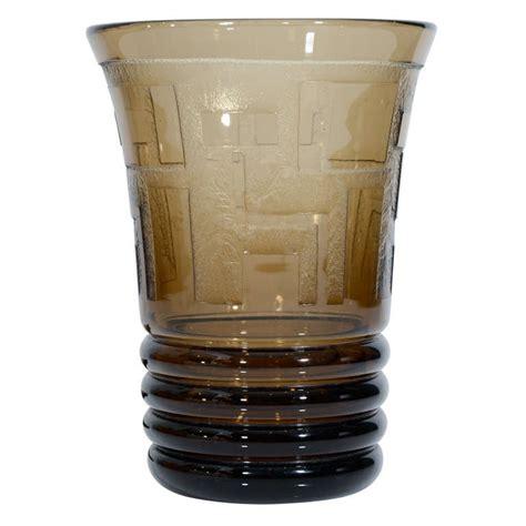 Smoked Glass Vase by Deco Smoked Glass Vase By Verame At 1stdibs