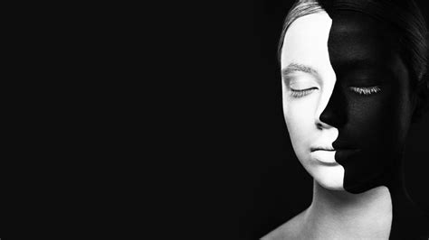 wallpaper black and white faces women face closed eyes black background optical