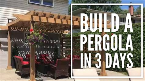 diy overview a pergola on concrete patio in 3 days it s