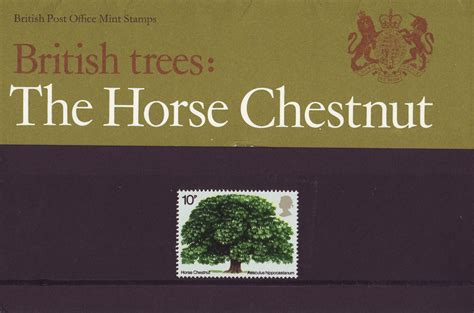 Gb Trees The Chestnut 1974 2nd Isuue sts for 1974 collect gb sts
