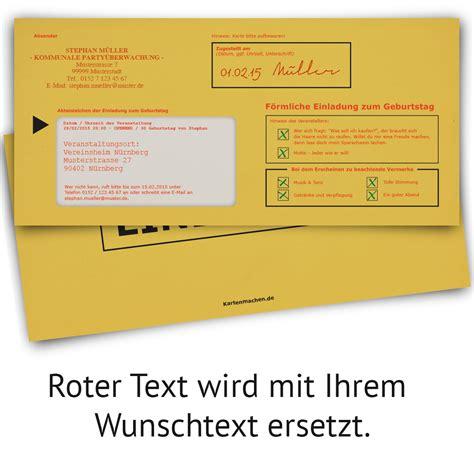 Offizieller Brief Einladung Einladungskarten Zum Geburtstag F 246 Rmliche Zustellung Einschreiben Mahnbescheid Ebay