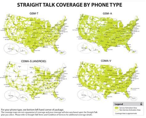 Page Plus vs. Straight Talk VZ coverage maps vs. Verizon