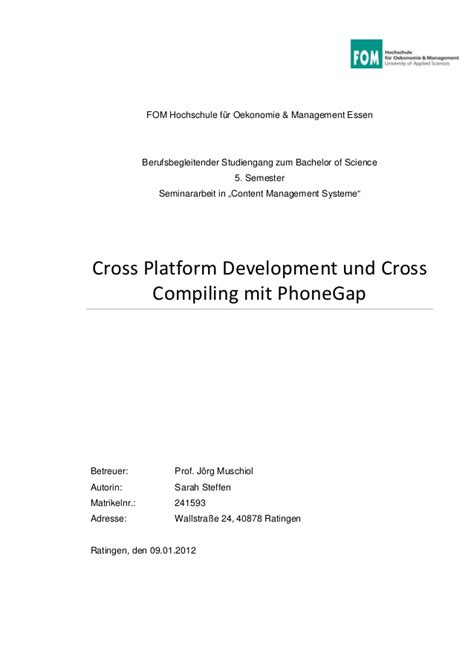 cross platform development und cross compiling mit phonegap