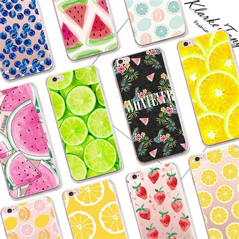 Ultrathin Jelly Fruit Iphone 6 6s Strawberry buy pretty fruit lemon watermelon pattern cell phone for iphone 6 6s transparent silicone