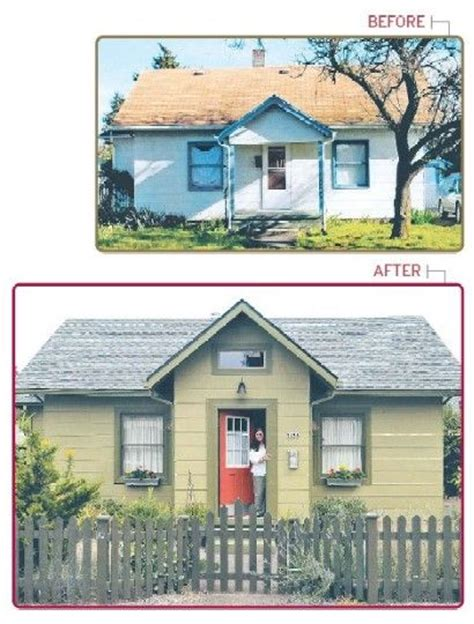 our cottage exterior before after bungalow makeover home exterior before after