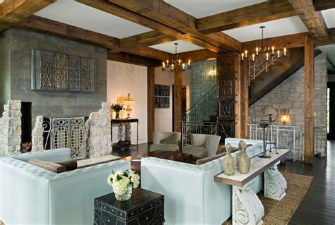 Eclectic Rustic Decor by Eclectic Living Space Rustic Living Room Chicago