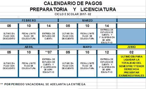 calendario de pagos dgeta calendario de pagos universidad la salle canc 250 n