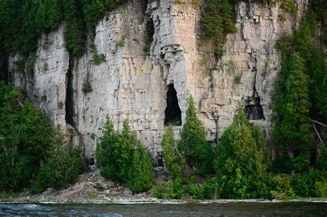 fish creek scenic boat tours fish creek wi peninsula state park s eagle cave as seen from the sunset